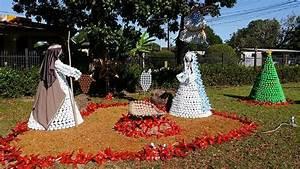 Crean un Belén con 5 mil botellas plásticas en Monagrillo