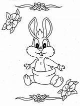 Diaper Coloring Bugs Colornimbus Bunny Template Bunnies Printable Sheets sketch template
