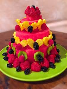 Watermelon Fruit Birthday Cake