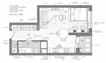 Apartment Studio Floor Simple Plans Plan Super
