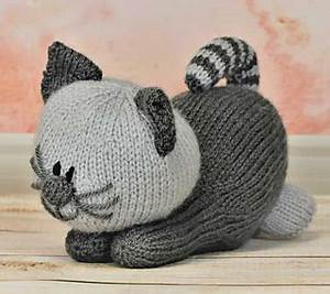 Light Grey Kitten Ravelry Playful Kitten Pattern By Knitting By Post