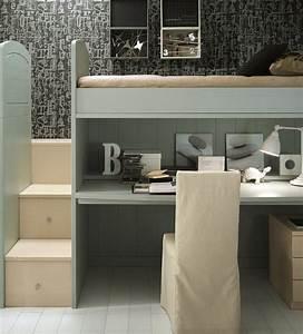 Jugendbett Für Mädchen : kinderzimmer idee treppe aus schubf cher und schreibtisch unter einem hochbett hochbett ~ Frokenaadalensverden.com Haus und Dekorationen