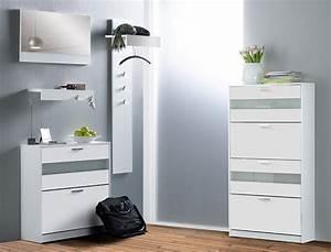 Wohnwände Hochglanz Weiß : garderoben set nando 5 tlg wei hochglanz paneel spiegel schuhschrank wohnbereiche bad ~ Frokenaadalensverden.com Haus und Dekorationen