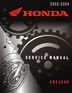 Honda 2002 2003 2004 Crf450r Motorcycle Service Manual