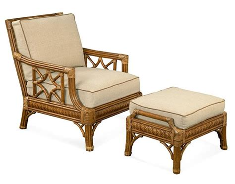 St. Augustine Chair & Ottoman - Wicker Rattan Collection