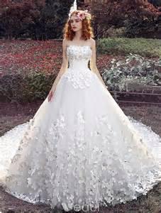 sissi brautkleider mit schleppe ösen hochzeitskleider 2016 ballkleid applique weißem tüll brautkleid mit langer schleppe