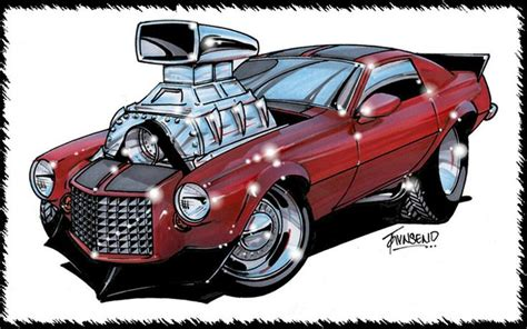 muscle car cartoon  love muscle cars pinterest