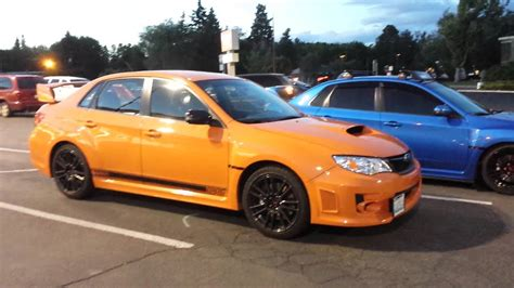 subaru wrx sti limited orange  world