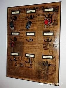 Tableau Porte Clé : tableau clefs le coin bricolage de v robrico ~ Melissatoandfro.com Idées de Décoration