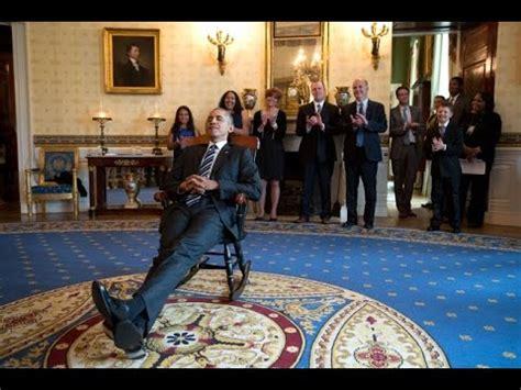 uconn huskies visit president obama  gift  rocking