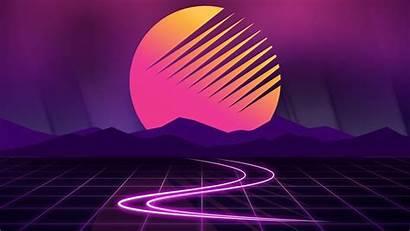Neon Sunset Wallpapers Artwork Moon Asus 1080