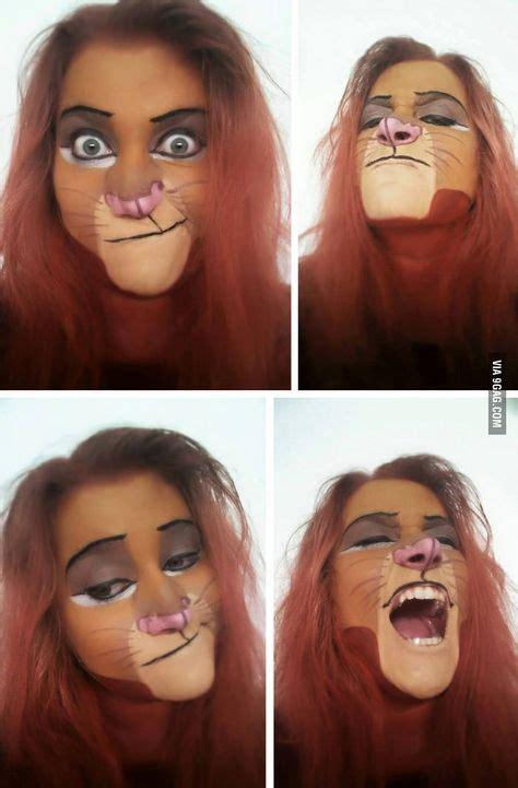 loewen kostuem selber machen halloween makeup