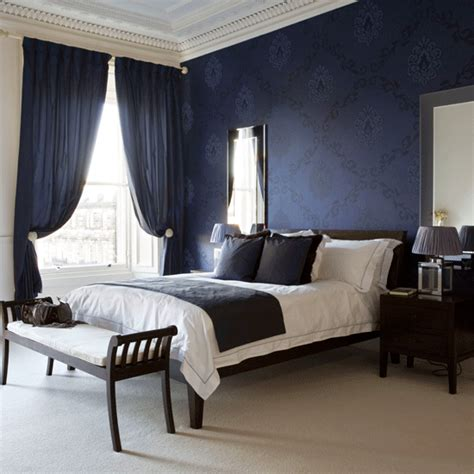 Navy Blue Room Decor - navy blue and white bedroom ideas home delightful