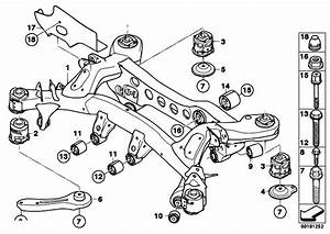 Original Parts For E90 320d M47n2 Sedan    Rear Axle   Rear