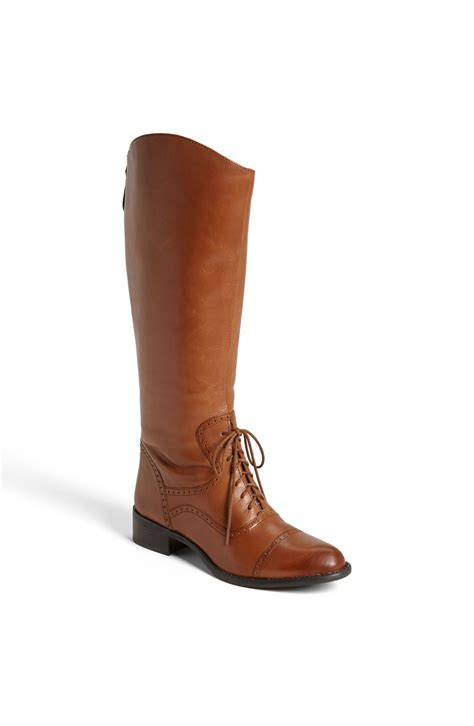 franco sarto ridge boot brown desert camel leather lyst