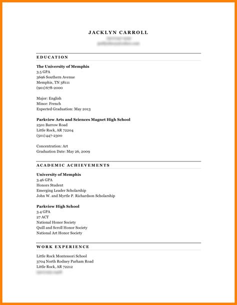 resume letter for college resume font size should be