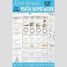 1st Grade Math Spiral Review  1st Grade Math Homework Or 1st Grade Morning Work  Pacing Guide