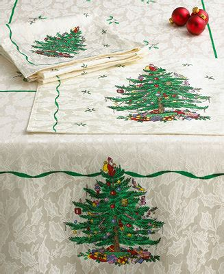 spode christmas tree table linens collection table