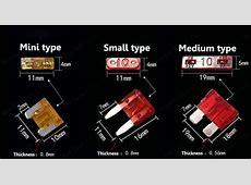 6 Models 600Pcs 75A To 30A Original Mini Type Auto Fuse