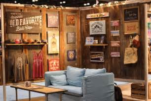 home design expo legacy legacy a maker of apparel headwear and home decor surrounded its booth with barn