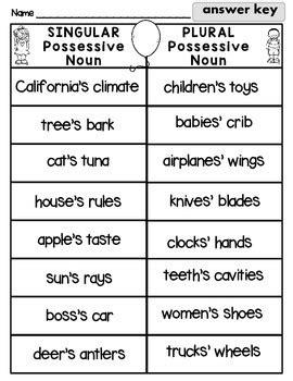 singular  plural possessive noun sort  rock paper