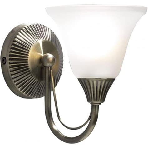 dar dar bos07 boston 1 light switched traditional wall light antique brass finish complete with