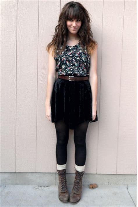 Black Vintages Floral Dresses Dark Brown Vintage Belts   u0026quot;A fleursu0026quot; by themoptop   Chictopia
