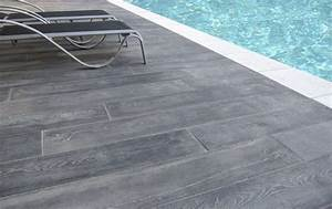 nivremcom terrasse piscine bois gris diverses idees With photo terrasse carrelage gris
