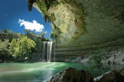 Nature Waterfall Landscape Texas Austin Desktop Wallpapers