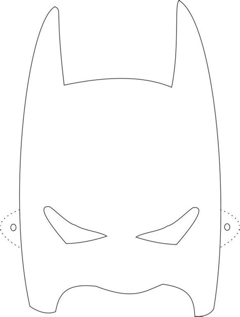 Batman Mask Template by Batman Mask Printable Coloring Page For Coloring