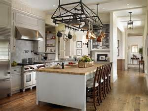 kitchen island with pot rack beadboard center island transitional kitchen huryn construction