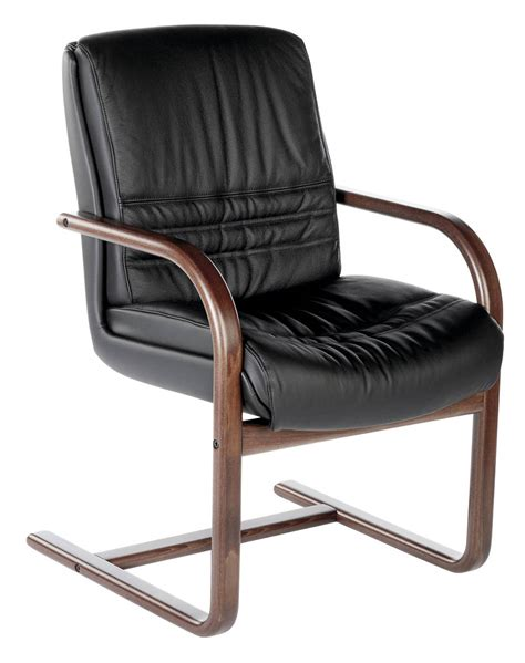 siege fauteuil fauteuil visiteur cuir et bois lyon siege en bois et
