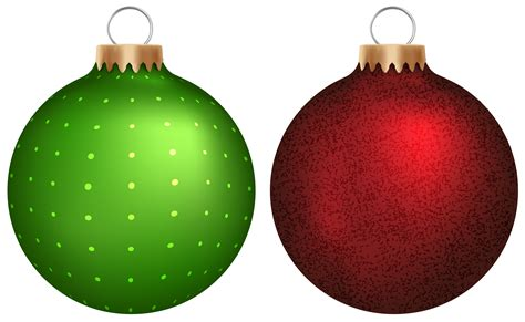 red and green christmas ornaments clipart 33
