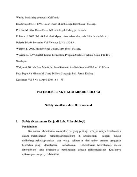 JURNAL STERILISASI ALAT MIKROBIOLOGI DOWNLOAD