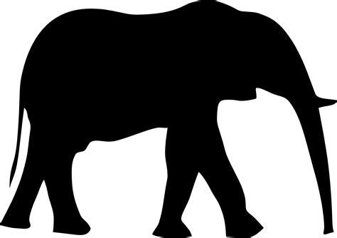 elephant clipart black and white black elephant clipart
