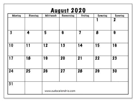 kalender august  zum ausdrucken anpassen zudocalendrio