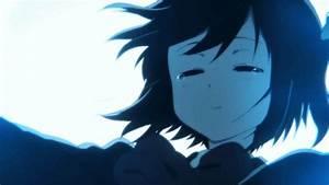 crying anime girl on Tumblr