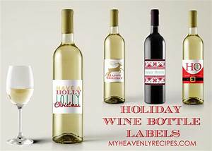 4 printable wine bottle labels my heavenly recipes With how to print wine bottle labels