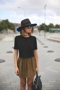 le chapeau feutre pour un look moderne With robe de cocktail combiné avec chapeau feutre femme hiver