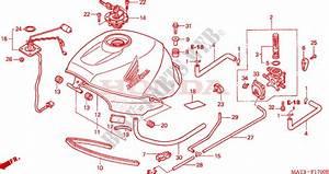 Fuel Tank  V  W  For Honda Cbr 1100 Super Blackbird 1997