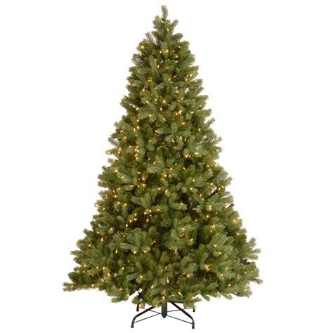 home depot real christmas trees national tree company 6 1 2 ft feel real downswept douglas fir hinged artificial tree