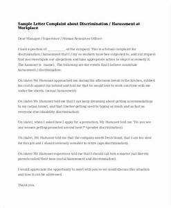 sexual harassment letter template best free home With sexual harassment letter template