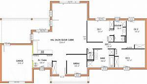 plan maison etage 4 chambres 1 bureau bricolage maison With plan maison 4 chambres etage