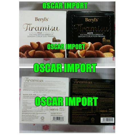 jual beryls tiramisu box chocolate gr beryls coklat