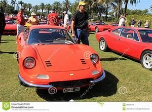 Classic 1960s Orange Dino 246 Gt Editorial Stock Photo