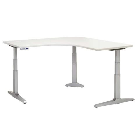 large adjustable height desk shop workrite sierra hx desks large equal corner
