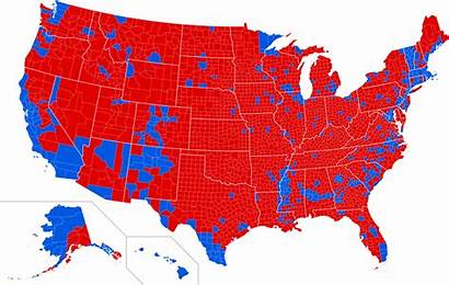 Election Presidential County Svg Map Usa Elections