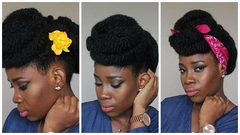 Elegant Updo On Short Natural Hair