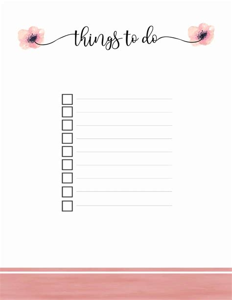 printable   list