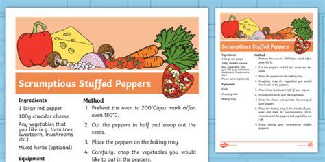* New * Carrot Club Scrumptious Stuffed Peppers Recipe  Originals, Fiction
